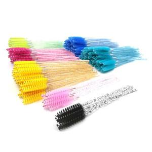 Crystal Disposable Lash Makeup Brush Applicator Styling Tools Professional Individual Mini Mascara Wand Brush Eyelash extension