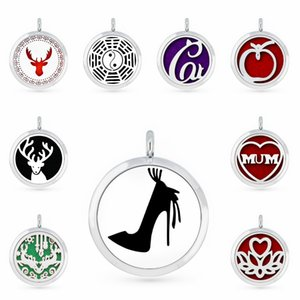 High Heels 30mm Essential Oil Aromatherapy Perfume Necklace Pendant Diffuser Locket Pendant Fit For Necklace Women Jewelry 5pcs Pads