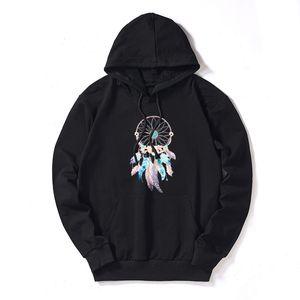 Wholesale DIY Sweatshirts Womens 2020 New Arrival Dreamcatcher Print DIY Hoodies Womens Fashion Trendy Pullovers Streetwear DIY Clothing