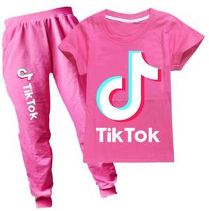 TIK-TOK T-shirt + Pantolon 2 adet / takım Bebek Erkek Kız Giysileri Çocuklar Için Rahat Kıyafetler Bebek Eşofman 2021 Bahar Çocuk Giyim
