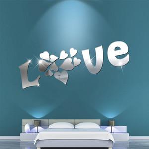 Творчество DIY Love Стикер стены Обои для детской детской комнаты Украшения Виниловые наклейки Спальня Наклейки высокого качества
