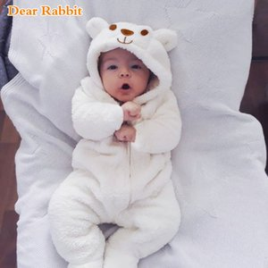 2020 New born Cute bear Newborn Baby onesie costume Boy Girl Clothes Long Sleeve Hoddies Baby Romper Autumn Winter Wear 0-18M Z1121