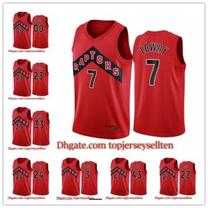 ТоронтоХищникиМужчины КайлЛоури ПаскальСиакам ФредVanvleet Red Icon Новая Униформа 2020-21 Баскетбол Джерси