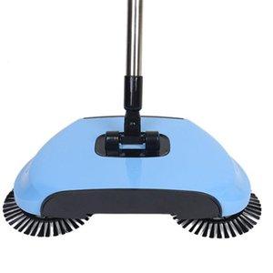 مكنسة يدوية فراغ دفع المنزلية الأنظف الأزرق الكناس الرئيسية دفع نوع مكنسة هدية مجموعة مزدوجة الوفاض