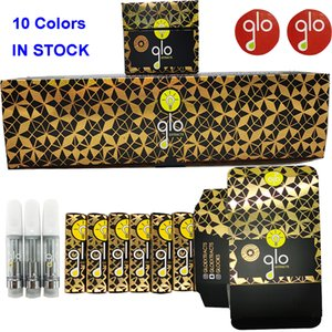 Glo Extracts Vape Cartridge Packaging Empty Vape Pen Vaporizer 0.8ML 1ML Glass Thick Oil Atomizer E Cigarettes Vape Carts QR Stickers