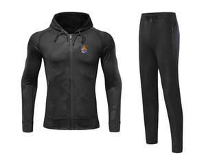 20 21 Newest Real Sociedad de Fútbol Jacket Footbal Jersey Pant Adult Soccer Set winter tracksuit men Jacket warm suits