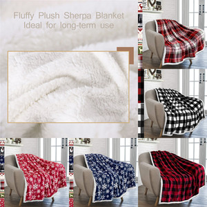 Plaid Throw Blankets Fuzzy Fluffy Cozy Soft Blanket Fleece Flannel Plush 2 Christmas Blankets for Couch Bed Sofa XD24249