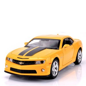 1 32 Camaro Toy Car Model Alloy Pull Back Children Toy Genuine License Collection Gift Simulation Off-Road Vehicle Kids Ornament Z1124