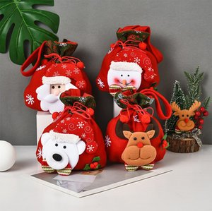 2021 new Cute Christmas gift bag Three-dimensional doll candy bag Christmas gift tote bag Brushed fabric Christmas decorations