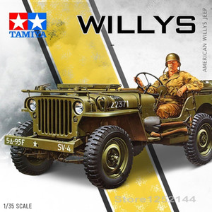 1:35 Scale Assembly Car Model World War II American Willys Jeep Model With Soldier Free Shipping 35219 Z1124