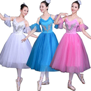 White Swan Lake Ballet Stage wear Costumes Adult Romantic Platter Ballet Dress Girls Women Classical Tutu Dance wear Suit