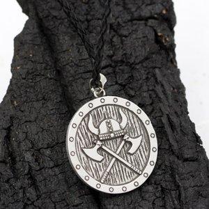 الأساطير الشمال الفايكينغ درع أودين المحارب قلادة قلادة مجوهرات شعبية طويلة