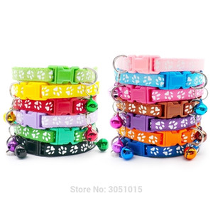 Wholesale 24Pc Safety Casual Dog Collar Neck Strap Fashion Adjustable With Bell Pet Collar Delicate Dog Cat Breakaway Pet Shop 201029