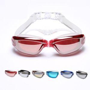 New Men Women Swimming Goggles With Earplugs Waterproof Anti Fog Uv Protection Swim Pool Water Sports Eyewear Underwater Glasses