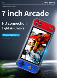 RS-17 Portable Retro Classic Handheld Game Console 7.0 inch HD Screen 8GB Game Player Support TF card Expansion and 8 simulators