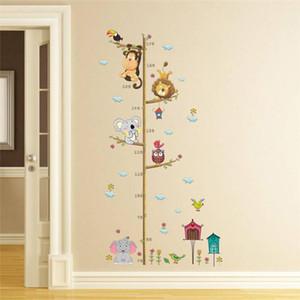 Dessin animé Hauteur Mesurer Sticker mural Toile de fond pour enfants Chambres Hauteur Graphique Règle Home Décoration Décoration murale Stickers