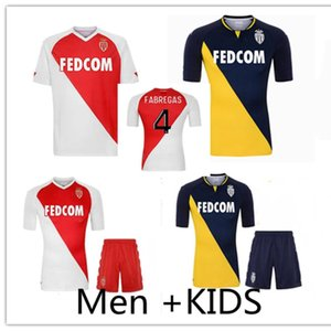 Men + Kids Kit 2020 2021 As Monaco Soccer Technys Kits Cits Fabregas 20 21 Keita Balde Ben Yedder Gelson Golovin Mailoots de Foot Футбольная рубашка