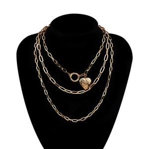 Collana multistrato di moda vintage spessa chunky choker choker choker multistrato collane collane gioielli