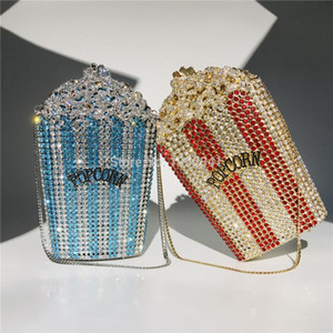 OC4216 Popcorn de haute qualité Crystal Crystal Sac de mariage Sacs de soirée