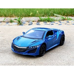 1:32 Scale For Honda Acura NSX Diecast Alloy Metal Luxury Sport Car Model Collection Pull Back Sound&Light Toys Vehicle Z1124