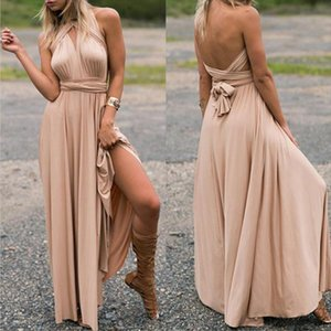 Ladies Sexy Women Maxi Club Dress Bandage Long Party Multiway Swing Dress Convertible Infinity Robe Bridesmaids Boho Women