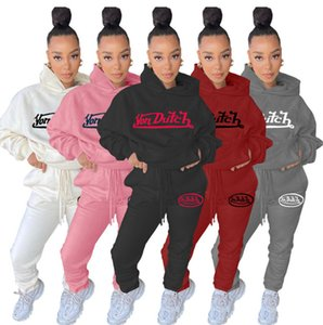 2020 New hot womens two piece set tracksuit shirt pants outfits long sleeve sportswear shirt trousers sweatsuit pullover tights sportswear