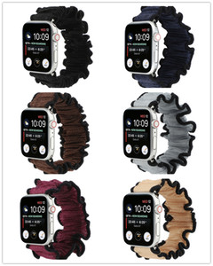 For Apple Watch Series 6 5 4 3 2 SE Soft Hair Loop Scrunchie Sport Band Wristwatch Strap