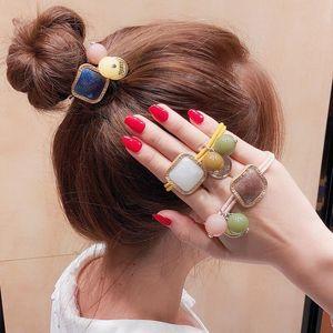 Geometric Ball Elastic Hair Band Korea Hair Accessories For Girls Women Handmade Tie Head Band Scrunchies Ornaments