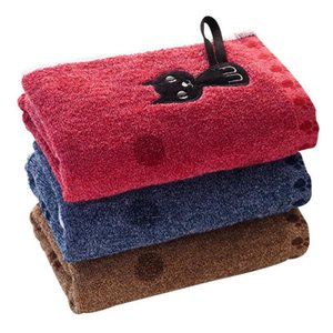 القط مطبوعة جودة عالية مناشف 25x50 سنتيمتر زوجين القطن المنزلية لينة الوجه منشفة الطفل منشفة شعبية لطيف الكرتون الساخن بيع 1 قطعة