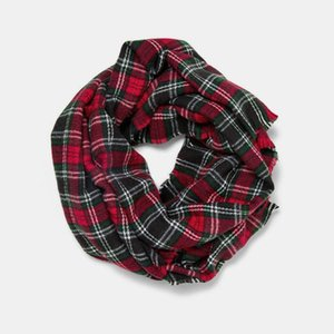 2020 new arrival imitated cashmere scarf women check plaid acrylic wool shawl wraps with tassel winter thick warm brand scarf