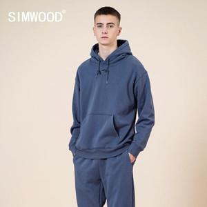 Simwood 390g Ağır Kalın Kapüşonlu Kazak Erkekler 2020 Sonbahar Kış Yeni Sıcak Polar Jogger Hoodies 13 Renkler Kazaklar