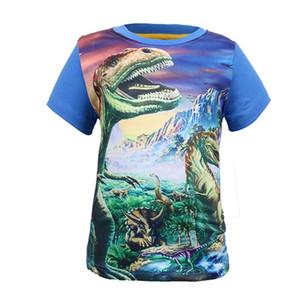 Hot Sale new Dinosaur World Children Kids 3-8 Years Short Tops Tees T Shirt Fille Summer Teenage Boys Z1121