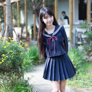 Novo estilo japonês Korean Kawaii Girls JK S-5XL High School Uniform Girls Mulheres Novidade Marinheiro Suits Uniformes Anime Saias 20114