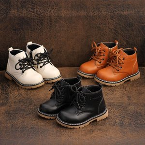 children Martin boots boys girls soft Cow Muscle bottom boots baby side zipper warm cotton shoes waterproof anti-slip