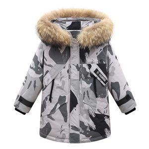 Children's down jacket boys 2020 new winter long section big children's clothing brand genuine white duck velvet jacket wholesale