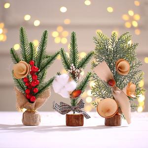 Mini Christmas Tree Decoration Small Tree Decoration Tabletop Atmosphere Decoration Simulation Christmas Tree Gift 25cm high