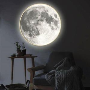 مرآة ماكياج الحديثة مع ضوء القمر الجدار مصباح غرفة المعيشة المدخل ممر الشرفة الزخرفية مرآة الجدار ضوء الإبداعية هدية