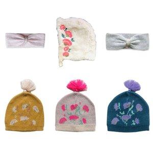 Hat Crianças 2020 Outono Inverno StRafina LM Meninas Gorro Cap Headwear Bebés Meninas Moda Headband Crianças malha Hairband