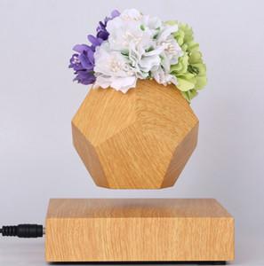 FREE SHIPPING 360 rotating Levitating Air Bonsai Pot garden - Magnetic Levitation Suspension flower and air bonsai pot Planter
