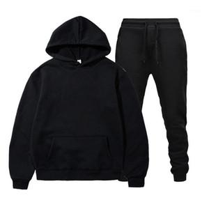Sparsil Mode Sweat à capuche Men Sportswear Set Sweats Sweats à capuche et pantalon1