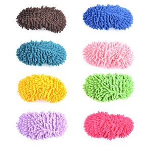 1pcs Candy Color Mop Slipper Floor Polishing Cover Cleaner Dusting Cleaning Foot Shoes 1pcs Candy H bbyvbW