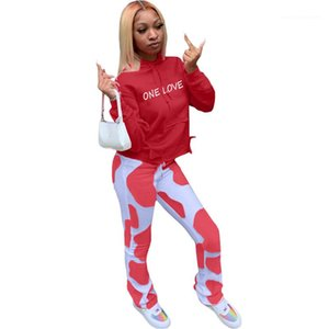 Pants Casual with Packet Womens Tracksuits Hooded Designer Two Piece Set Letter Printed Womens Two Piece