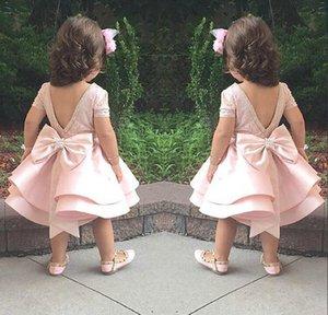 Flower Girls Dresses for Weddings A Line Girls Pageant Dresses Tea Length Sleeveless Custom Made Fairytale Dresses