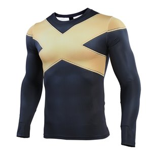 S-4XL 3D Printed T shirts Men Compression Shirt Cosplay Costume Clothing Long Sleeve Tops For Male 201201