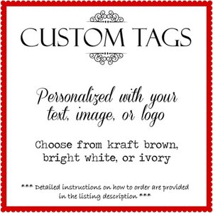 Custom Kraft Or White Tags Products Tags Price Tags Gifts Weddings Business Logotags jllmAx