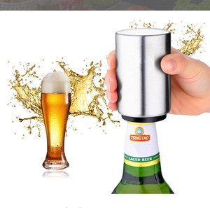 Hot Stainless Steel Beer Bottle Opener Automatic Kitchen Accessories Beer Soda Cap Red Wine Bottle Opener Bar Supplies Kitchen Tool EEF3292
