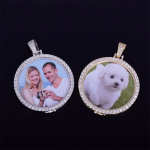 Custom Made Photo Medallions Necklace & Pendant With Rope Chain Gold Silver Color Cubic Zircon Men's Hip hop Jewelry 178 O2