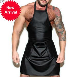 Uomini maschio lingerie plus size cuoio catsuit latex teddy tuta tuta grembiule cosplay aperto crotch corpo calza sexy clubwear uomo