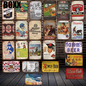 Drink Beer Metal Poster Custom Tin sign Decor Home Decor Wall Art Picture For Wall Art Shop Restaurant Decor Garage Decorations