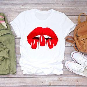 Women 2020 Summer Fingernail Nail Art Make Up 90s Ladies Lady T shirts Top T Shirt Ladies Womens Graphic Female Tee Shirt